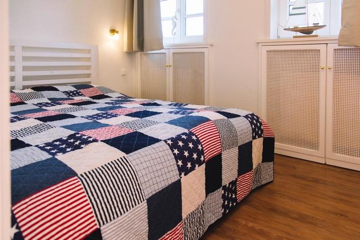Ferienhaus Möwe Jonathan - Appartement Schlafzimmer