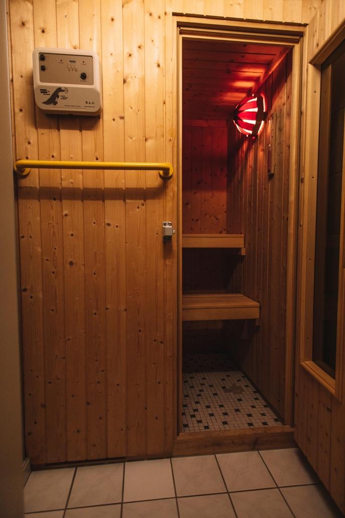 Sauna im Haupthaus